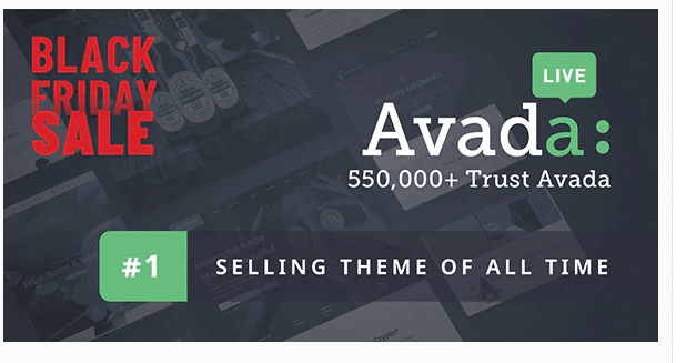 Avada WordPress Theme Black Friday Sale