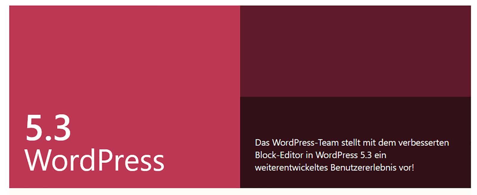 wordpress-5.3.-ist-da