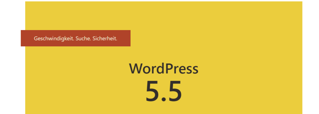 Wordpress-Update-5.5 ist da